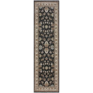 """Ziegler Peshawar Anderson Gray/Ivory Hand-knotted Wool Rug - 2'8 x 8'1 - 2'8"""" x 8'1"""""""