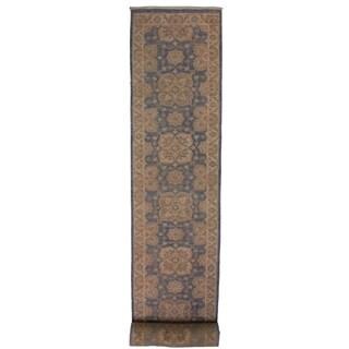 "Ziegler Peshawar Bryant Blue/Ivory Hand-knotted Wool Rug - 2'8 x 12'6 - 2'8"" x 12'6"""