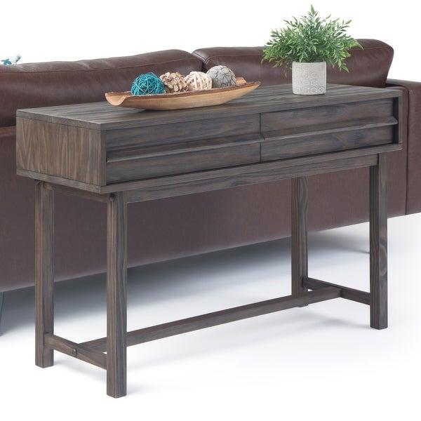 """Carbon Loft Ravenscroft Brown Pinewood Console Table - 48"""" W x 16"""" D x 30"""" H"""