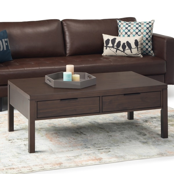 """Carbon Loft Ainscough Coffee Table with Drawers - 50"""" W x 26"""" D x 18.5"""" H"""