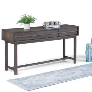 "Carbon Loft Ravenscroft Brown Wood Wide Console Table - 60"" W x 16"" D x 30"" H"