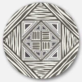 Designart 'Minimalist Graphics II' Geometric Metal Circle Wall Art