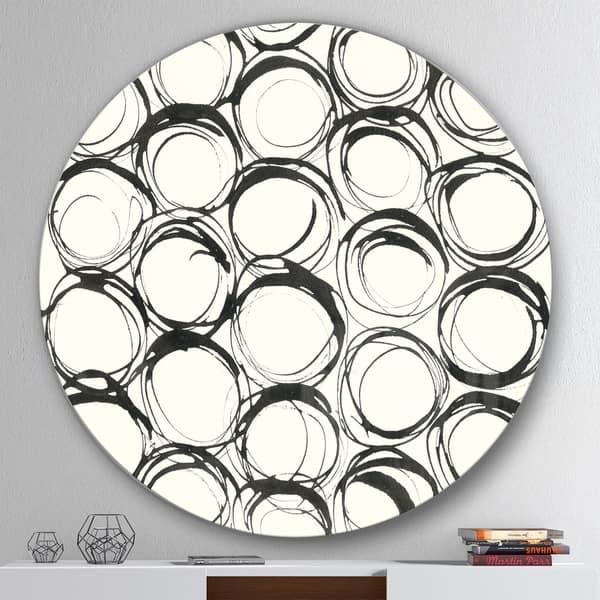 Shop Designart Minimalist Black And White Ii Geometric