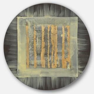 Designart 'Galm Abstract II' Glam Metal Circle Wall Art