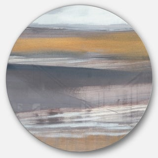 Designart 'Misty Grey Beach' Nautical & Coastal Metal Circle Wall Art