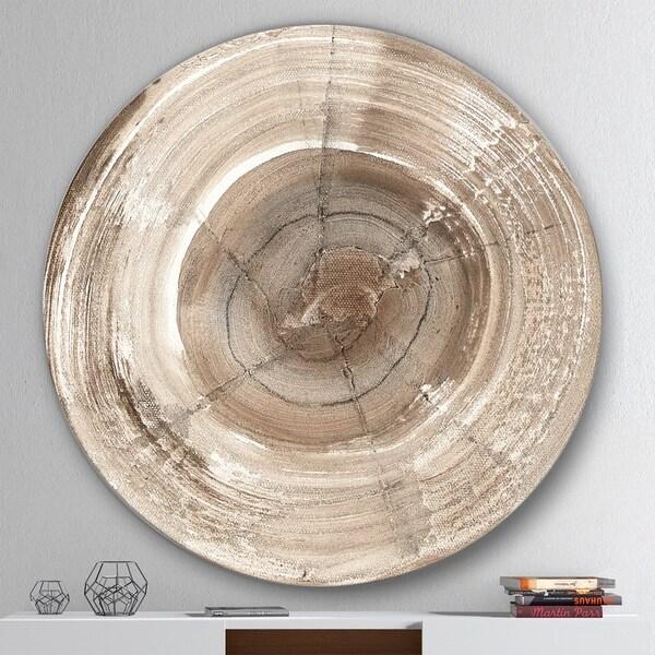 Designart 'Circle natural elements I' Geometric Metal Circle Wall Art