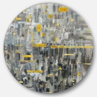Designart 'Glam Gold Reflection' Glam Metal Circle Wall Art
