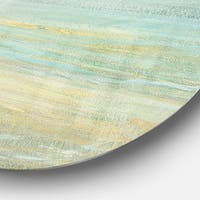 Designart 'Sunrise Boat I' Nautical & Coastal Metal Circle Wall Art