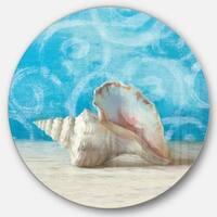 Designart 'Composition from the Sea I' Nautical & Coastal Metal Circle Wall Art