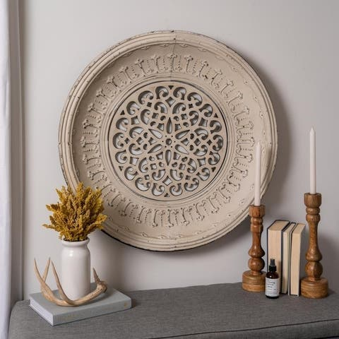 The Curated Nomad Balance White Metal Wall Art