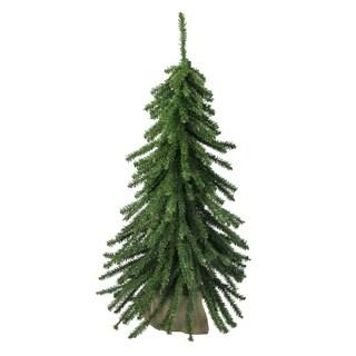 2' Downswept Mini Village Pine Artificial Christmas Tree in Burlap Base - Unlit - N/A