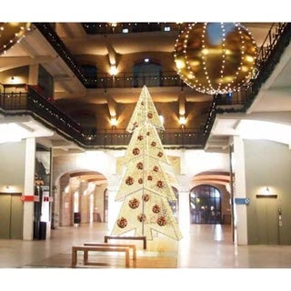 21' Giant Commercial Grade LED Lighted Waterloo Christmas Tree - Warm White LED Lights - N/A
