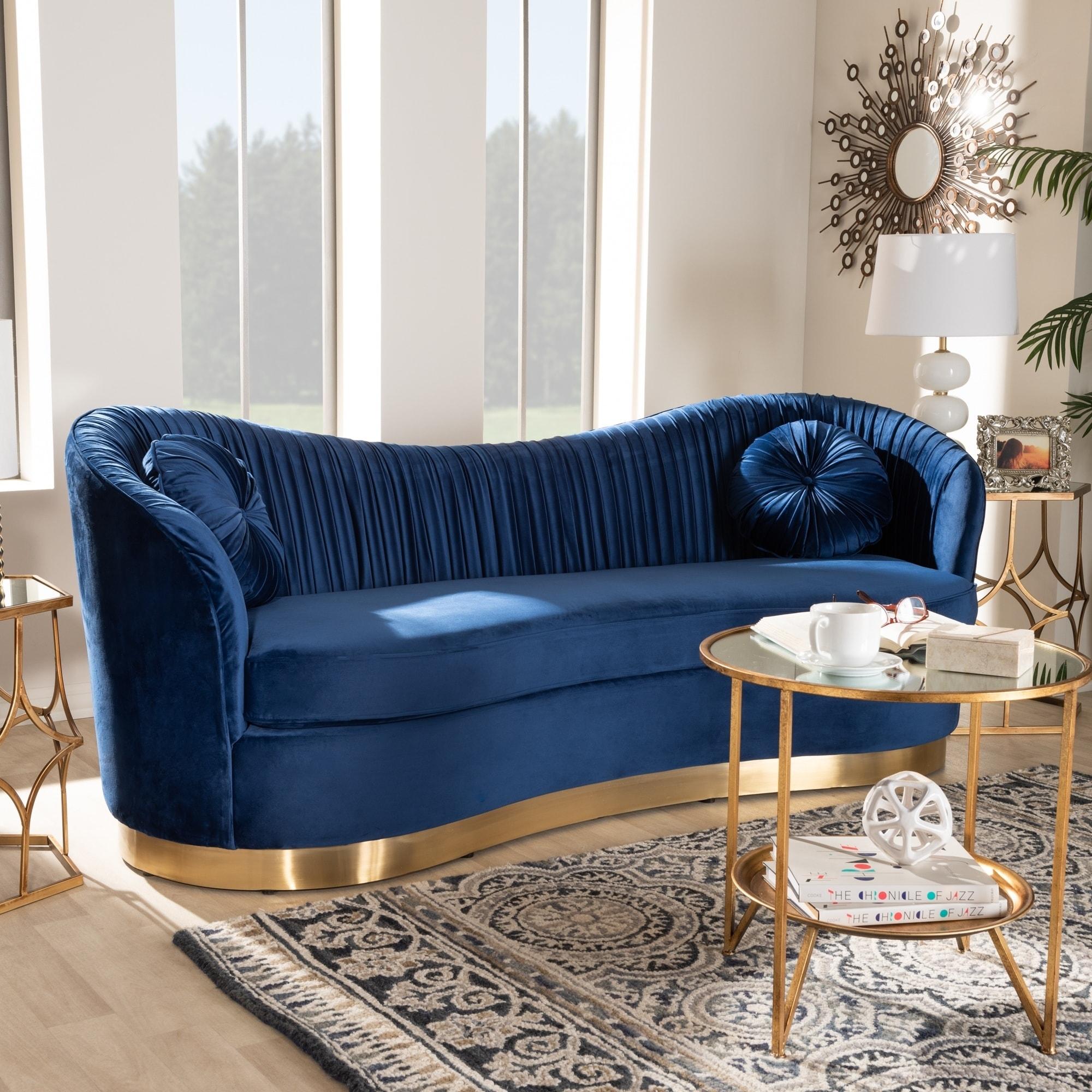 Vienišas Rankinis Pilvo Skausmas Royal Blue Sofa Yenanchen Com