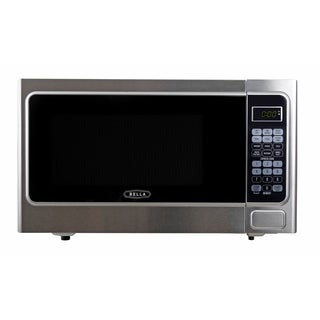 Bella BMO11ABTBKC 1.1 Cu. Ft 1000-Watt Family Sized Digital Microwave Oven, Stainless Steel and Black