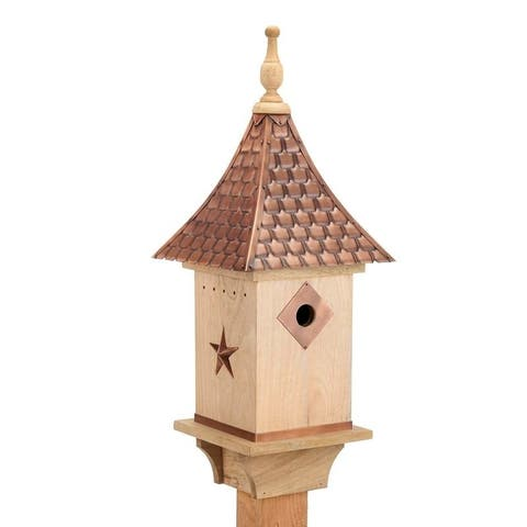 Copper Shingled Roof Bird House by Good Directions