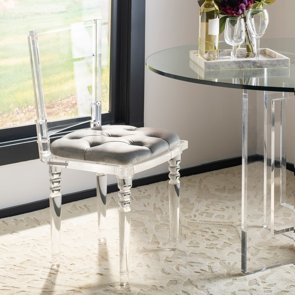 Shop Safavieh Couture Ella Clear Black Acrylic Dining