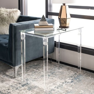 """Safavieh Couture Amelie Acrylic Side Table - Clear - 30"""" x 18"""" x 27"""""""
