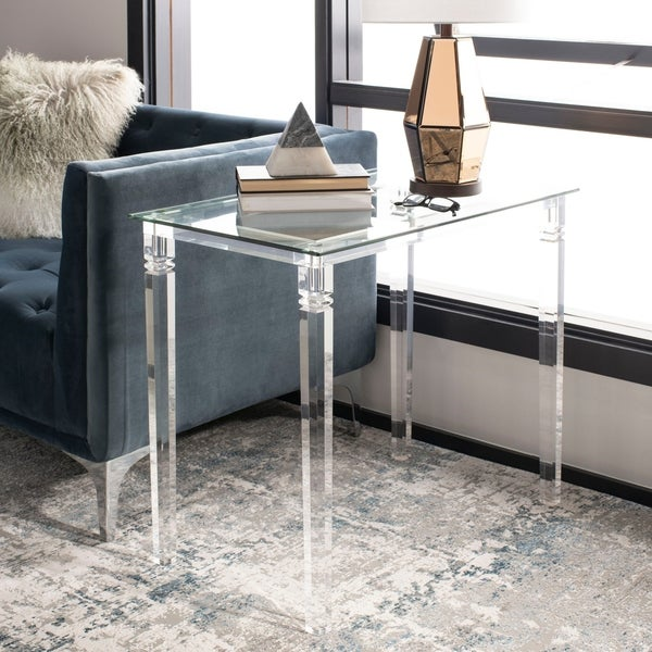 Shop Safavieh Couture Amelie Acrylic Side Table Clear