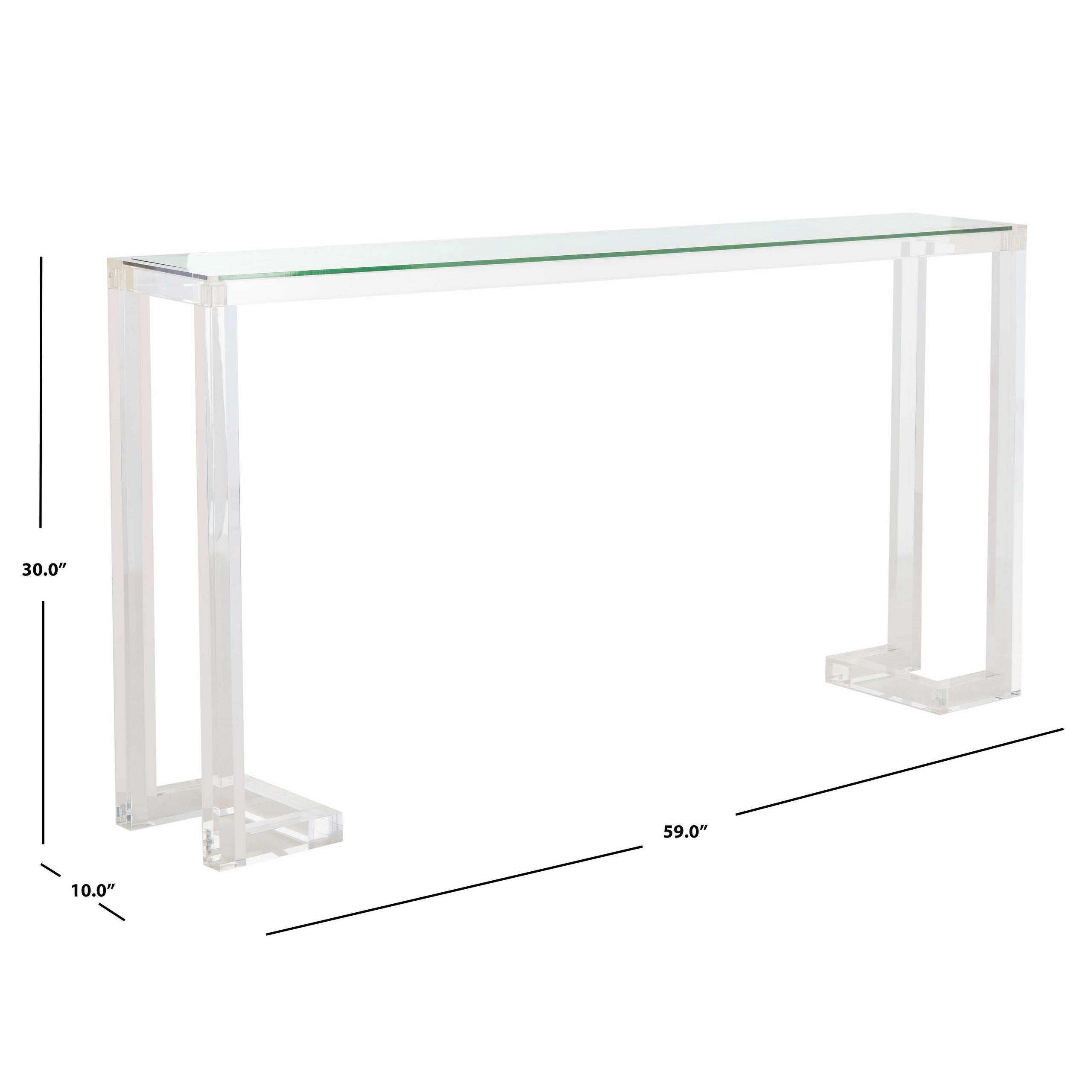 Outstanding Safavieh Couture Benji Acrylic Console Table Clear 60 X 10 X 30 Spiritservingveterans Wood Chair Design Ideas Spiritservingveteransorg
