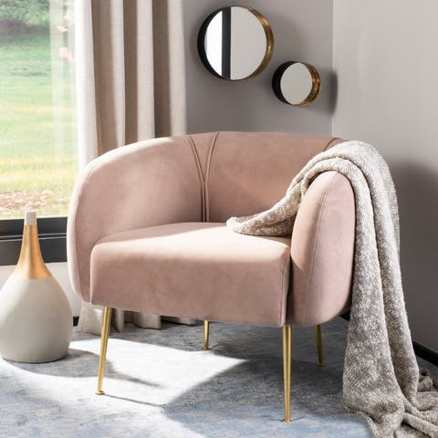 Safavieh Couture Alena Chair - Pale Mauve