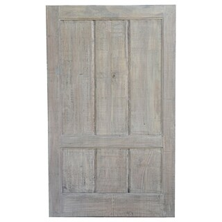 Straight Panel Door with Grey Finish and Saw Marks