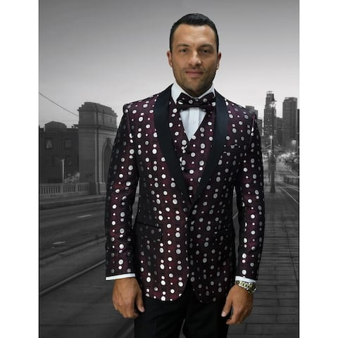 Statement Bellagio13 Burgundy txedo with matching bow tie