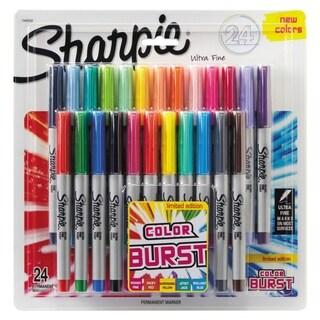 Sharpie Ultra Fine Tip Permanent Marker, Color Burst Asmt, 24/Pack