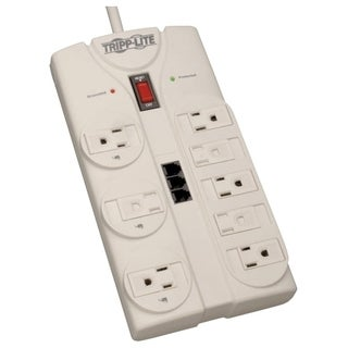 Tripp Lite Surge Protector Power Strip 120V 5-15R 8 Outlet RJ11 8' Co