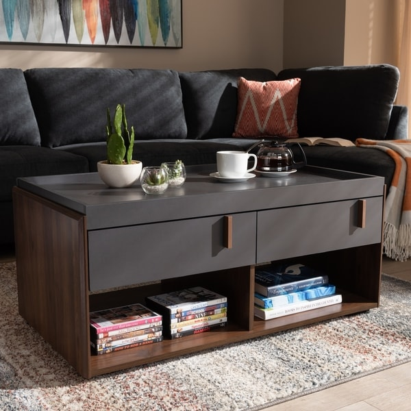 Coffee Table With Drawers Sale: Shop Contemporary 2-Drawer Coffee Table