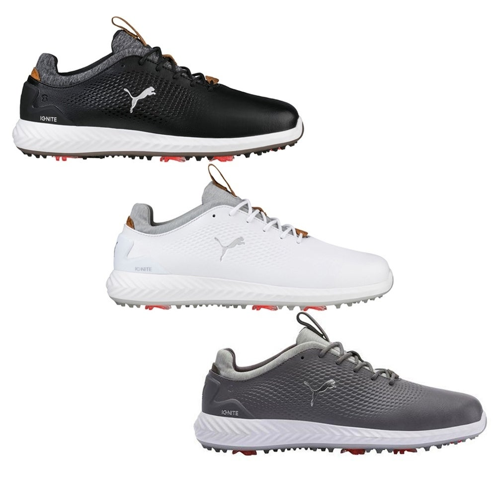 Shop Puma Ignite Pwradapt Leather Golf Shoes Overstock 26414682 Black 10 5
