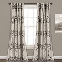 "Lush Decor Keya Medallion Room Darkening Window Curtain Panel Set in Grey - 52""W x 84""L (As Is Item)"