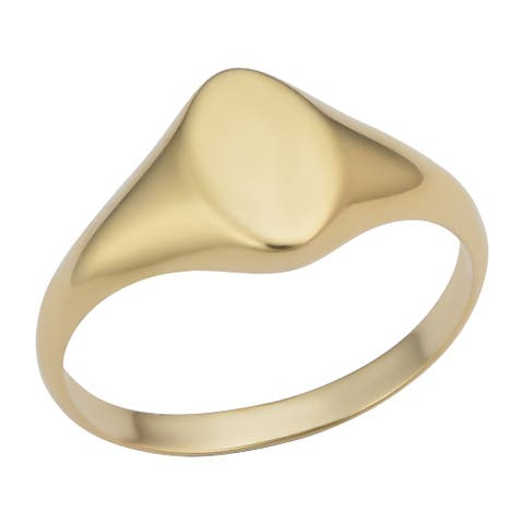 14k Yellow Gold Marquise Signet Ring (sizes 4-7)