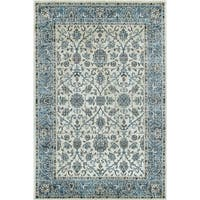 Wallington Collection - White, Blue Traditional Area Rug