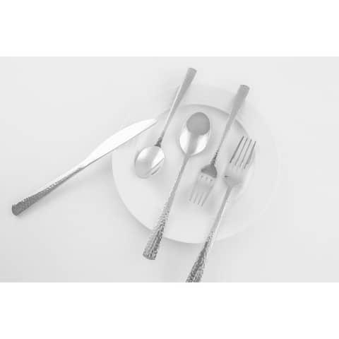 Cambridge Silversmiths Arie Mirror Hammered 18/0, 39 Piece Flatware Set, Service for 6 - 39 Piece Set
