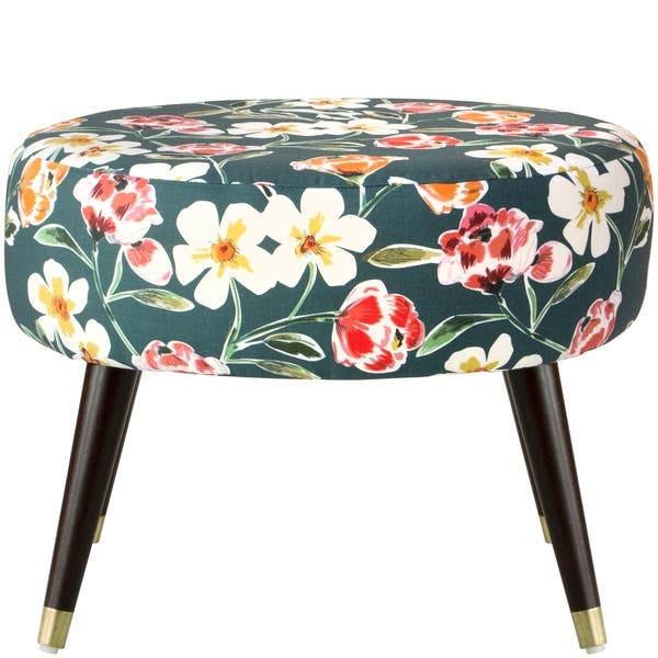 Swell Shop Skyline Furniture Oval Ottoman In Summer Floral Green Beatyapartments Chair Design Images Beatyapartmentscom