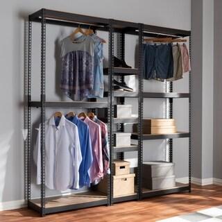 Baxton Studio Contemporary 10-shelf Closet Storage Racking Organizer