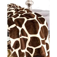 Ultra Soft Micro Plush Flannel Bed Giraffe Skin Print Blanket