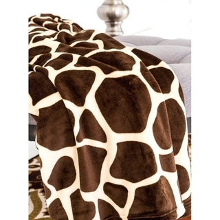 Ultra Soft Micro Plush Flannel Bed Giraffe Skin Print Blanket