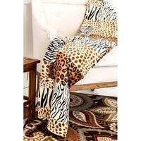 Ultra Soft Micro Plush Flannel Bed Safari Skin Print Blanket