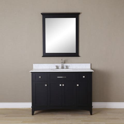 48 In Espresso Single Sink Bathroom Vanity From Manhattan Collection
