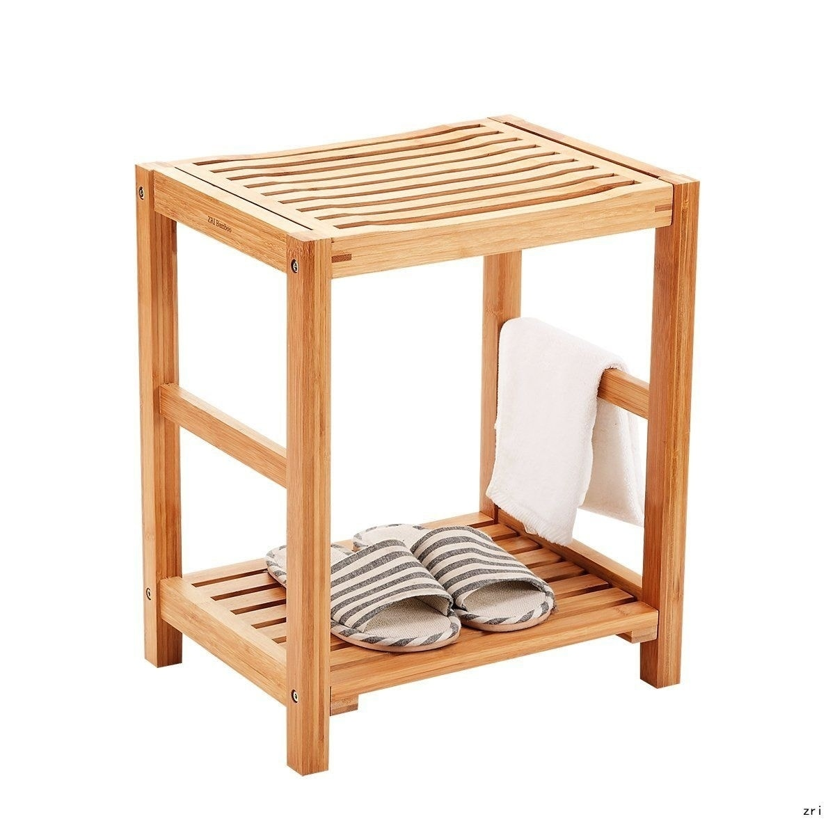 Pleasant Bamboo Shower Bench Seat Wooden Spa Bench Stool With Storage Shelf Theyellowbook Wood Chair Design Ideas Theyellowbookinfo