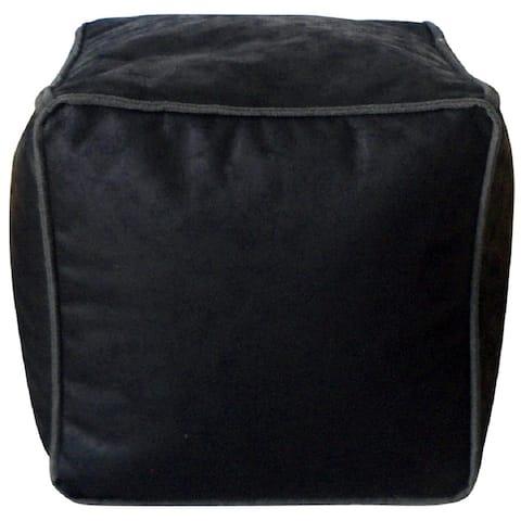 Avery Antique Faux Leather Bean Bag Pouf