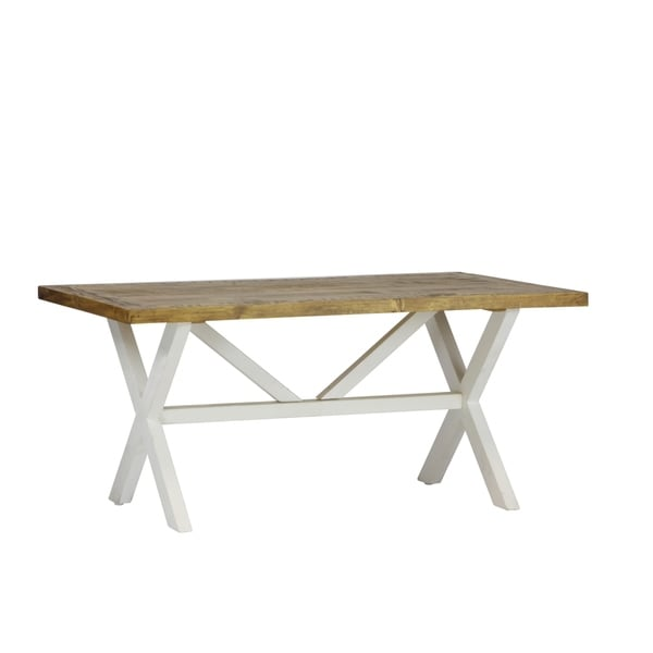 Highland Distressed White Solid Reclaimed Wood Coffee Table
