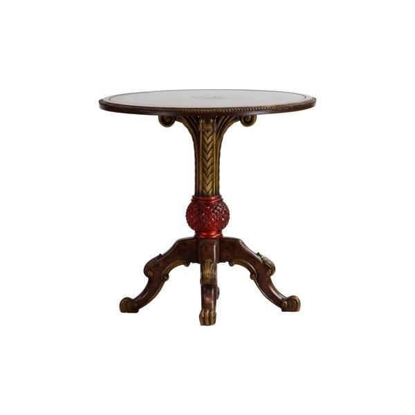Murano Italian Hand Painted Glass Art Vanity Round Accent Table