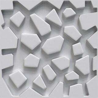 """19 5/8""""W x 19 5/8""""H Dublin EnduraWall Decorative 3D Wall Panel, White"""
