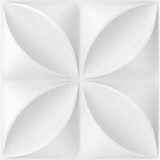 "11 7/8""W x 11 7/8""H Helene EnduraWall Decorative 3D Wall Panel, White"