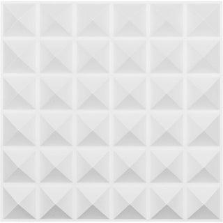 "19 5/8""W x 19 5/8""H Damon EnduraWall Decorative 3D Wall Panel, White"