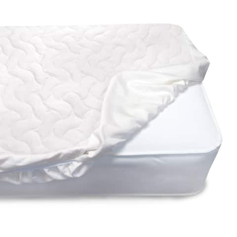 Serta Sertapedic Crib Mattress Pad Cover/Protector withNanotex Stain Repel and Release