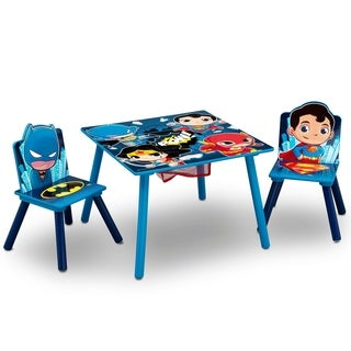 DC Super Friends Table and Chair Set with Storage