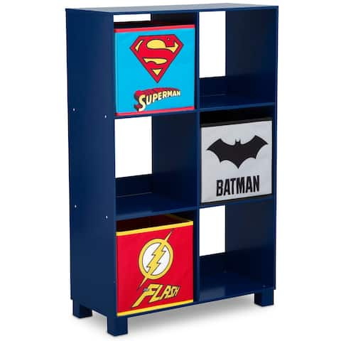 DC Comics Justice League 6 Cubby Deluxe Storage Unit